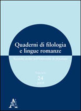 Quaderni di filologia e lingue romanze ricerche svolte - Pierdominici casa ...