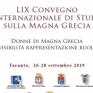 lix convegno magna greci taranto 2019