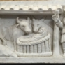 nica musei vaticani particolare di sarcofago con presepe