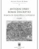 antiqvae urbis romae descriptio 1624    pianta di philippus cluverius   antiche piante di roma n 6