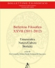 bollettino filosofico annuario a cura del dipartimento di filosofia delluniversit della calabria