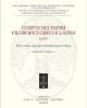 corpus dei papiri filosofici greci e latini testi e lessico nei papiri di cultura greca e latina
