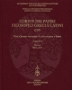 corpus dei papiri filosofici greci e latini  testi e lessico nei papiri di cultura greca e latina parte iv 2