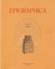 epigraphica periodico internazionale di epigrafia  vol  77 2015