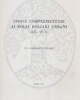 indici complementari ai bolli doliari urbani  vol 11 acta instituti romani finlandiae