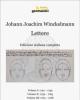 johann joachim winckelmann lettere tardotte in italiano 3 voll in cofanetto    a cura di maria fancelli e joselita raspi serra