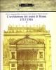 larchitettura dei teatri di roma 1513   1981
