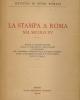 la stampa a roma nel secolo xv   1933