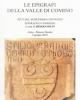 le epigrafi della valle di comino atti del 16 convegno epigrafico cominese