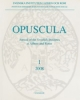 opuscula 1 2008 annual of the swedish institutes at athens and rome