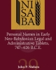 personal names in early neo babylonian legal and administrative tablets 747 626 bce   john p nielsen    nisaba 29