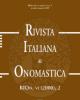 rivista italiana di onomastica  rion xxi  2015   fascc 1  2